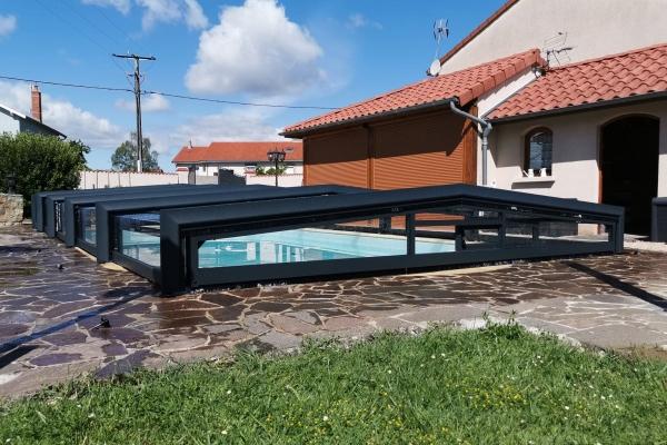 Abri de piscine télescopique Sokool - Modèle Kandis