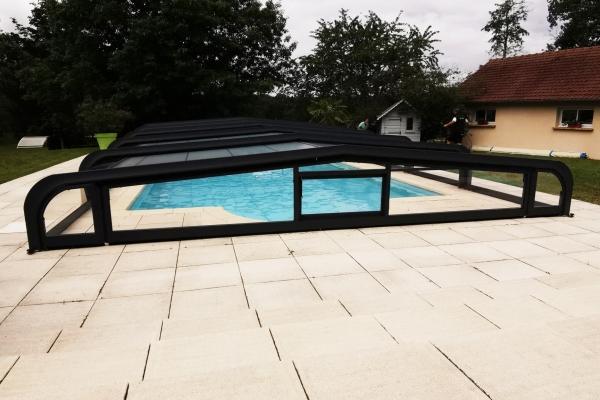 Abri de piscine télescopique Sokool - Modèle Orion